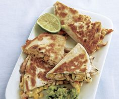 Turkey and Corn Quesadillas with Guacamole. There are so many ways to use up Thanksgiving leftovers, but none so easy as simple quesadillas. Put a Tex-Mex spin on your leftover turkey with this quick and easy dinner.