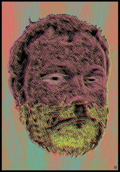 ZUEOKO350  psychedelic beard. Psychedelic, Skull, Artwork, Work Of Art, Alcohol Intoxication, Skulls