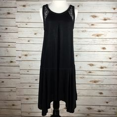 """[Free People] Make It Count Swing Dress Black Lace An inverted front pleat accentuates the relaxed silhouette of a flirtatious swing dress styled with a dropped waist and flourishes of eyelash lace. Slip on style. Cool retro 20s vibe.   Color: Black Fabric: 96% Acetate 4% Spandex Size: Small Bust: 16"""" Length: 36"""" Condition: NWOT. Never worn.  No Trades! No PayPal! Free People Dresses"""