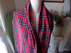 Fleece tartan scarf, polar fleece, mans scarf, womens scarf, Royal Stuart tartan , fringed ends, long edges hemmed, warm winter scarf, by MaddisonsRainbow on Etsy Womens Scarf, Tartan Scarf, Stocking Fillers, Polar Fleece, Shawls And Wraps, Scarves, Stockings, Warm, Winter