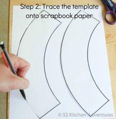Blank cupcake wrapper template.  Print on cute cardstock
