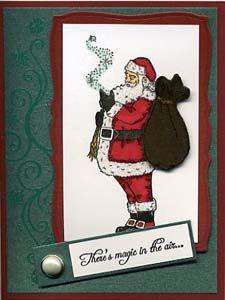 Stamp of the Month November 2011 - Great Impressions Rubber Stamps Diy Cards Stamps, November, Santa, Baseball Cards, November Born