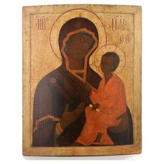 Alte russische Ikone Gottesmutter von Tichvinskaja 18. Jh   Online Verfauf auf HOLYART