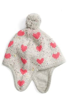 Free shipping and returns on Tucker + Tate Heart Print Earflap Hat (Baby Girls…