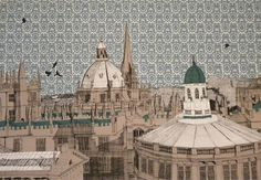 Flying over Oxford Rooftops by Clare Halifax