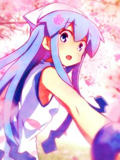 Ika Musume, Squid Girl, Princess Peach, Fan Art, Manga, Awesome Anime, Fictional Characters, Random, Sleeve