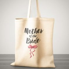 Personalised Wedding Red Bow Cotton Bag