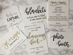 Hand Lettered Wedding Signs