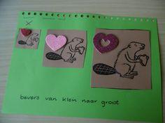 kinderboekenweek 2018: bevers seriëren van klein naar groot Groot, School