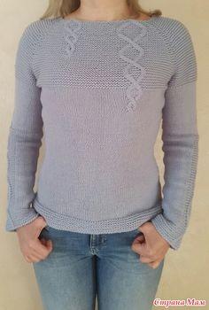 Хотела очень давно этот пуловер. А тут как-раз он-лайн по нему собрался http://www.stranamam.ru/  и я выбрала время и с удовольствием его себе связала.