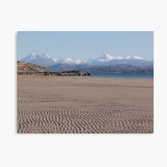 'Torridon from Big Sand' Photographic Print by Jennifer J Watson Aberdeen Harbour, Scotland Culture, Wester Ross, Beach Design, Watercolor Artwork, Create Image, Scottish Highlands, Scotland Travel, Scenery