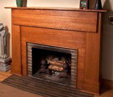Rift Sawn Red Oak Craftsman Style Mantel Craftsman Style Porch, Craftsman Interior, Craftsman Furniture, Built In Furniture, Farmhouse Furniture, Furniture Ideas, Front Porch Stairs, Porch Columns, Porch Steps