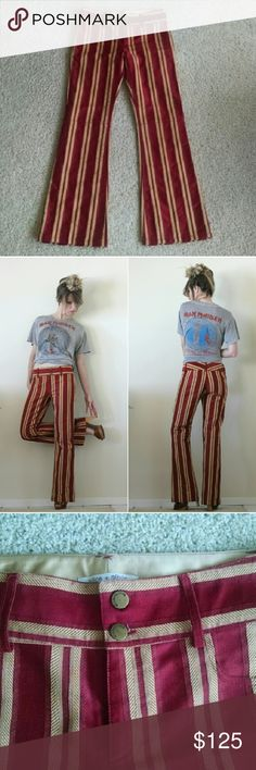 """Alice + Olivia Striped Trouser Pants Rock n roll cool stripe trouser pant - obsessed with A + O pants and these are good ones. :) Alice + Olivia size 6 meas. 14.75"""" across waist 