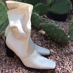 Franco Sarto Shoes - Like New FRANCO SARTO Leather Boots in white!