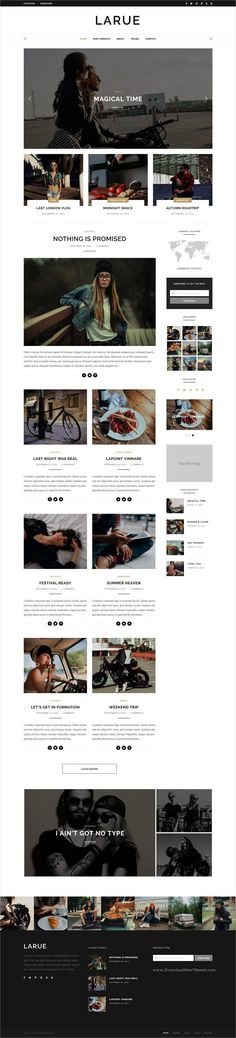 Larue is a modern & stylish responsive #WordPress #blog #theme for creative blogger writers website with 5 unique homepage layouts download now➩ https://themeforest.net/item/larue-personal-blog/19089631?ref=Datasata
