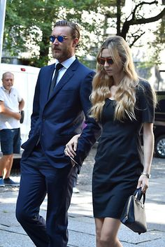 Noblesse et Royautés:   Pierre Casiraghi and his wife Beatrice Borromeo Casiraghi attend the funeral of Beatrice's grandmother Countess Marta Marzotto, Milan, August 1, 2016