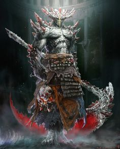 IFS did the concept art and illustrations for all characters and creatures in the game. Fantasy Armor, Dark Fantasy Art, Dark Art, Sword Fantasy, Fantasy Monster, Monster Art, Fantasy Creatures, Mythical Creatures, Fantasy Character Design