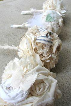 Fabric Bridesmaid Boquets