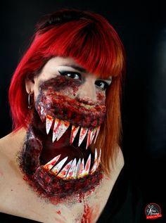 Chica diabólica www.etallerdelpelo.com Halloween Face Makeup, Artistic Make Up, Atelier, Hair, Artists