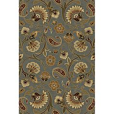 Overstock Infinity Collection Blue Area Rug (7'10x10'3) $229.99 - no reviews yet - love pattern but wonder if color is true.