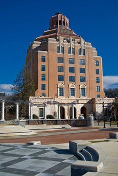 The beautiful art deco City Hall in Asheville, North Carolina: