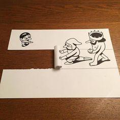 Behind The Scenes By worldofartists Funny Drawings, Easy Drawings, Pencil Drawings, Funny Art, Paper Art, Paper Crafts, Diy Crafts, Behind The Scenes, Contemporary Art
