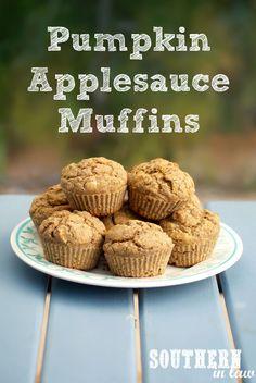 Pumpkin Applesauce Muffin Recipe - healthy muffins that are full of flavour! Gluten free, low fat, sugar free, clean eating friendly, vegan