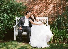 relaxed garden wedding portrait | Ashley Cox