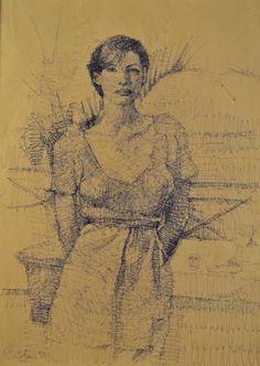 "Saatchi Art Artist Marco Ortolan; Drawing, ""SHE "" #art"
