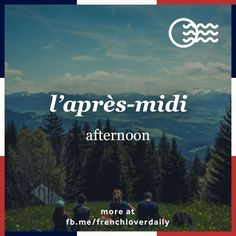 Sneak preview of your word of the day - daily French lesson every afternoon on instagram.