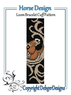 Horse Design - Loom Bracelet Cuff Pattern | DebgerDesigns - Patterns on ArtFire