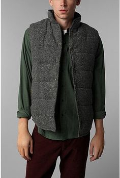 Abel Brown Donegal Puffer Vest