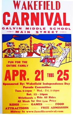 Spring Carnival Fundraiser, April 21 - 25 | The Wakefield Independence Day Committee