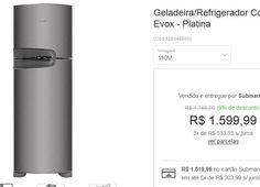 Refrigerador Consul Frost Free Duplex 2 Portas CRM42 386L Evox << R$ 159999 em 3 vezes >>
