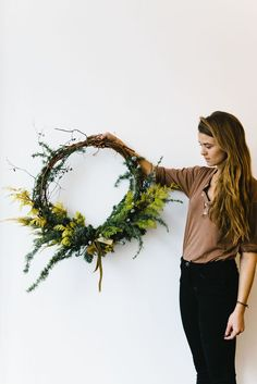 Craft your very own holiday wreath. #WeekendWhyNots
