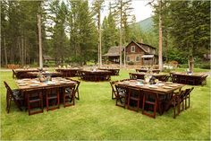 Montana wedding venue--such a cool environment!