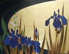 名画漆絵酒井抱一の名作「四季花鳥図巻」部分[fs01gm]