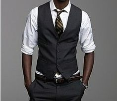 Vest only idea for groomsmen, this is my fave