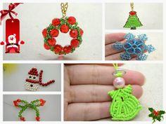 Diy: Como hacer 6 Colgantes de Bisuteria para Navidad