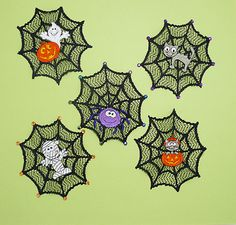 Spider Web Doilies from All About Blanks & Designs by JuJu