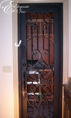 Delicieux Custom Wrought Iron Wine Gate.