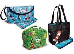 Dr Seuss lunch bags and nappy bags