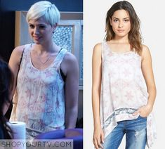 Pretty Little Liars: Season 6 Episode 5 Sara's Lace Abstract Tank