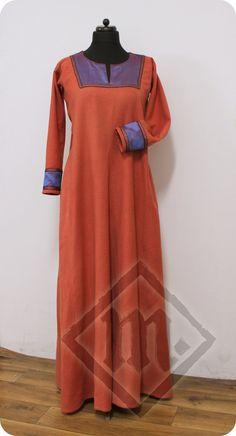 Naturally Dyed Diamond Twill Viking Dress by LadyMalinaCom on Etsy