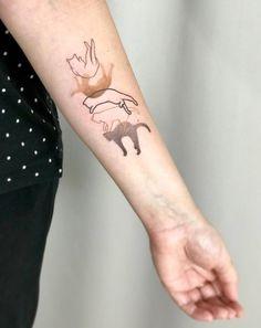 70 Cat Tattoos, The Best You'll Ever See - Straight Blasted Creative Tattoos, Great Tattoos, Mini Tattoos, Body Art Tattoos, Small Tattoos, Finger Tattoos, Tatoos, Fake Tattoos, Cat Tattoo Designs