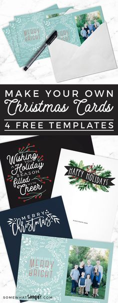 Save time and money by making your own Photo Christmas Cards! Here are a few FREE Christmas Card Templates to make it even easier on you. (You're welcome!)