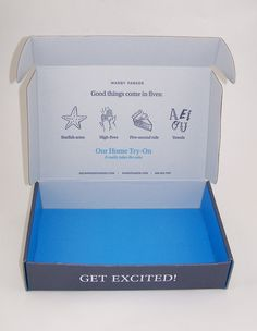 warby parker packaging - Google Search                                                                                                                                                                                 More