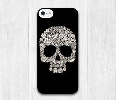 Cute Floral Skull iPhone 5C case iphone 5C hard by iCaseBeauty, $6.99