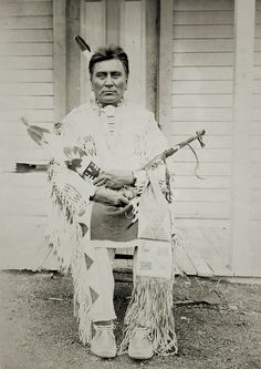Tall Youth  Tall Youth- Assiniboine. Real name: Hok-she-na-hos-ka. Born 1858. Photo taken by my 3rd Great Uncle at Fort Belknap, Montana, 18...