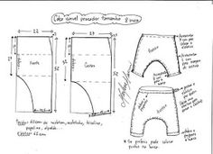 Diy Crafts - Sewing instructions Baby trousers Puppenhose LUCA Gr 42 62 Sewing patterns and sewing inst - Her Crochet Baby Clothes Patterns, Sewing Patterns For Kids, Sewing For Kids, Baby Sewing, Baby Patterns, Harem Pants Pattern, Baby Harem Pants, Kids Pants, Sewing Tutorials